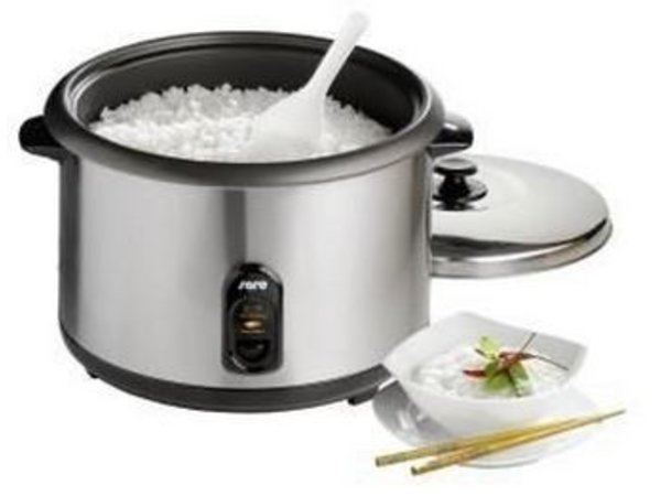 Saro Electric Rice Cooker SS + Measuring cup + Spoon + Steam function   10-24 people - 4.2 liters