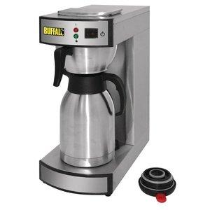 Buffalo Koffiezetapparaat | 1,9 Liter | RVS Isoleerkan | 100 Kopjes per uur | 195x360x(H)455mm