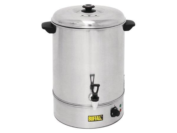 Buffalo Warmwasser-Zufuhr / Glühwein Kessel Edelstahl   Wasserhahn mit   XXL 40 Liter