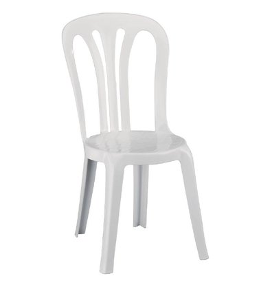 XXLselect Stapelsessel Starke weiße Kunststoff - Preis für 6 Stück