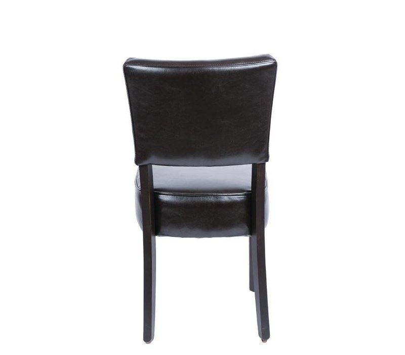 XXLselect Kunstlederen stoel Ruig - Donkerbruin - Prijs per 2 stuks - 426x450x(h)858mm