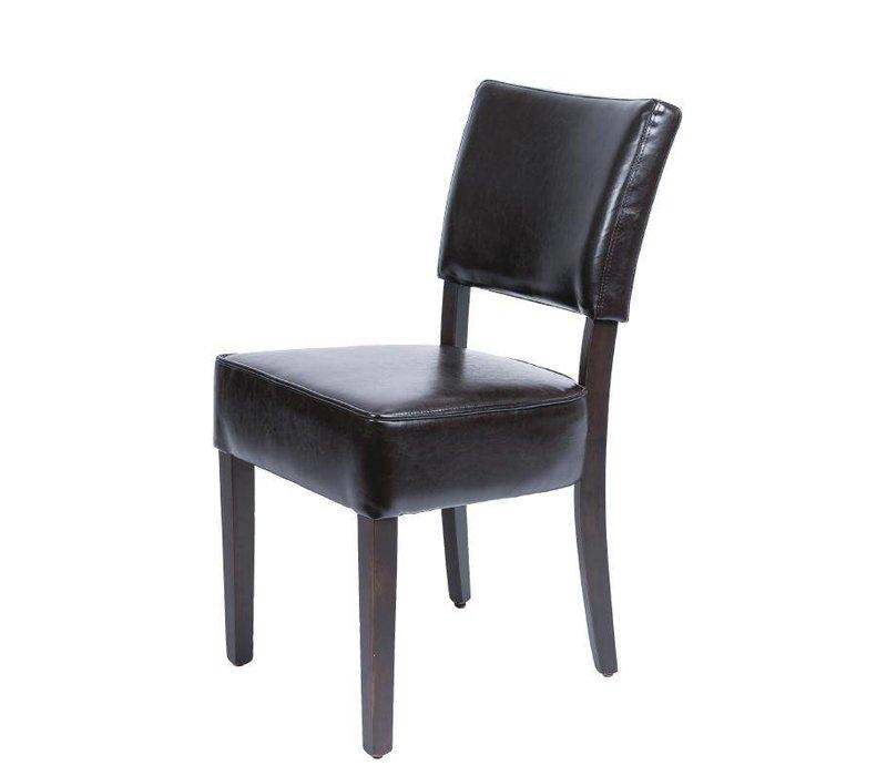 XXLselect Leatherette seat Rough - Dark - Price per 2 pieces - 426x450x (H) 858mm