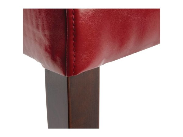 XXLselect Art Leather Chair with Back - Red - Price per 2 pieces