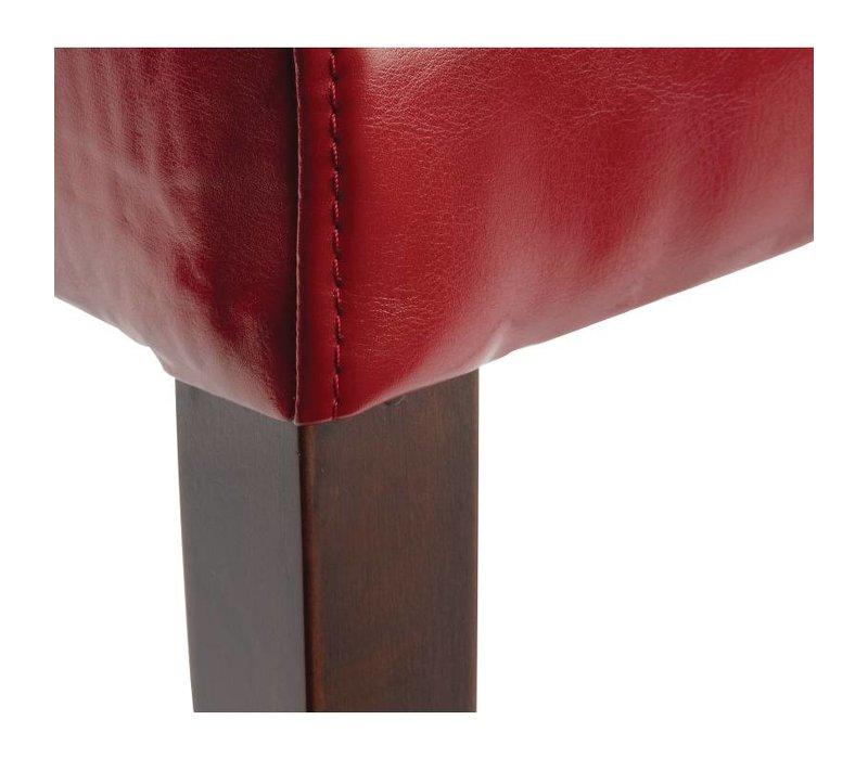 XXLselect Kunstlederen stoel met Rug - Rood - Prijs per 2 stuks