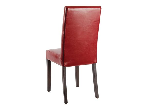 XXLselect Kunstledersessel mit Back - Rot - Preis pro 2 Stück