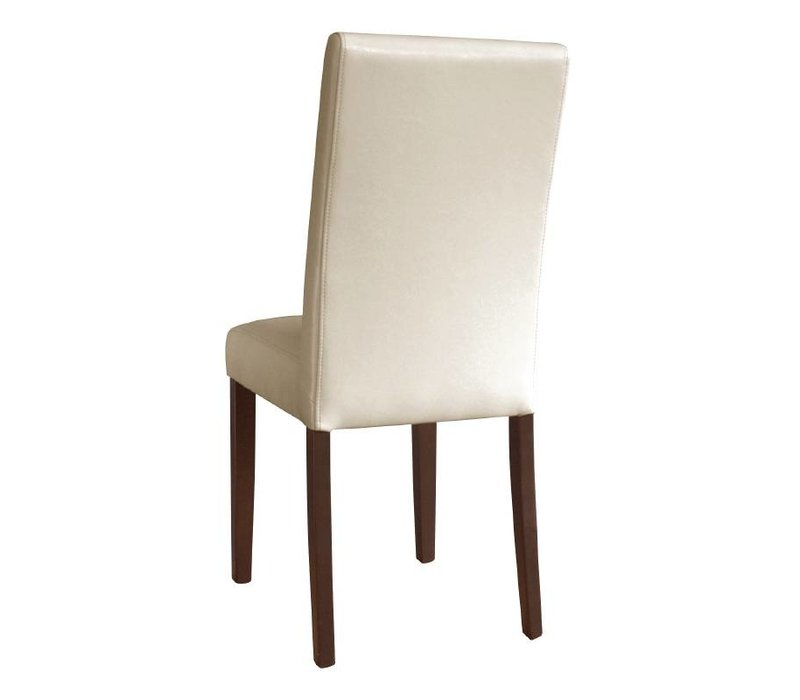 XXLselect Art Leather Chair with Back - Cream - Price per 2 pieces
