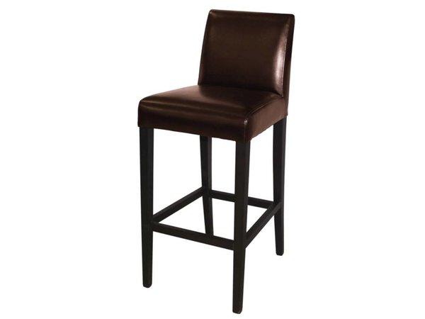 XXLselect Kunst Leder Barhocker - Dunkelbraun mit Holzrahmen - Sitzhöhe 760 mm - Preis pro 1 Stück
