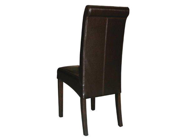 XXLselect Kunstlederen stoel met ronde rug - Donkerbruin - Prijs per 2 stuks - 410x510x(h)1015mm