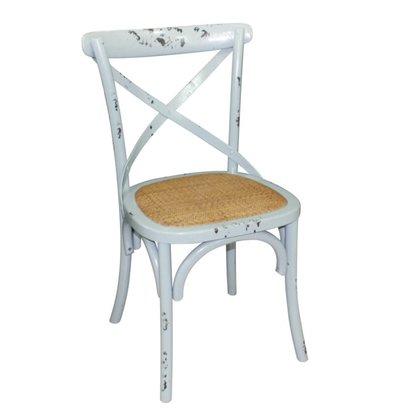 XXLselect Holzstuhl mit gekreuzten zurück - Antiquitäten BlueWash - Preis pro 2 Stück