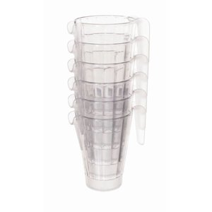 XXLselect Jug | 1 Liter | Stapelbar | Polycarbonat | Bier-Pitcher | Ø125x (H) 180mm