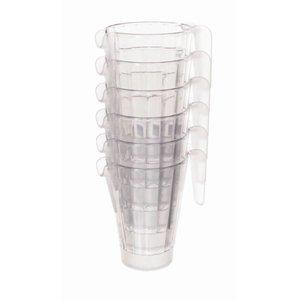 XXLselect Schenkkan | 1 Liter | Stapelbaar | Polycarbonaat | Bier Pitcher | Ø125x(H)180mm