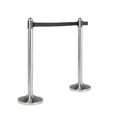 Securit Barrier post Chrome 13kg - gray drawstring 210 cm - HEAVY DUTY - XXL OFFER!
