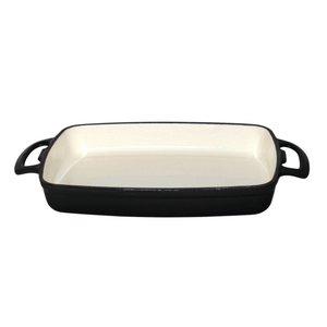 XXLselect Rectangular baking dish Black | 1.8 Liter | 370x200x (H) 40mm