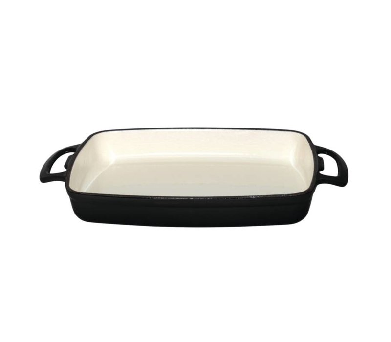 XXLselect Rectangular baking dish Black | 2.8 Liter | 390x235x (H) 55mm