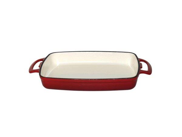 XXLselect Rectangular baking dish Red | 1.8 Liter | 370x217x (H) 40mm