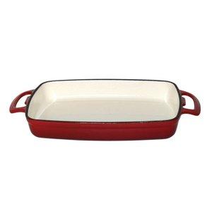XXLselect Rectangular baking dish Red | 2.8 Liter | 390x235x (H) 55mm