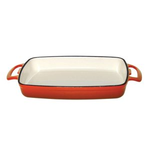 XXLselect Rectangular baking dish Orange | 370x217x (H) 40mm