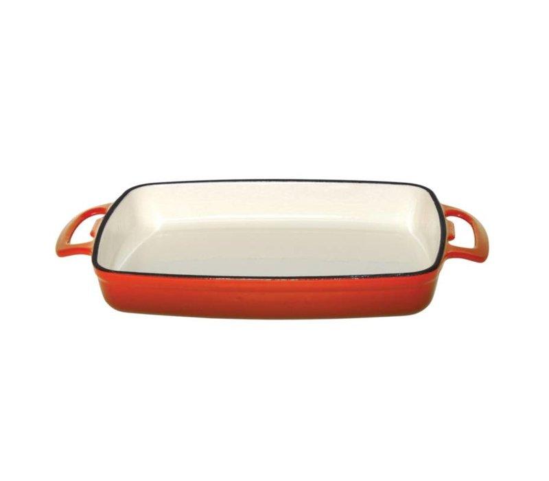 XXLselect Rechthoekige Ovenschaal Oranje   2,8 Liter   390x235x(H)55mm
