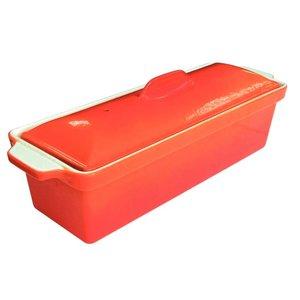 XXLselect Pate Terrine   Orange   1,3 Liter   Stainless Steel Pan   Antihaft-Low   340x105x (H) 110mm