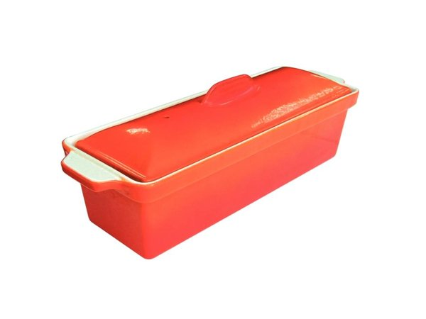 XXLselect Pate Terrine   Oranje   1,75 Liter   RVS Pan   Anti-aanbak Laag   340x105x(H)110mm