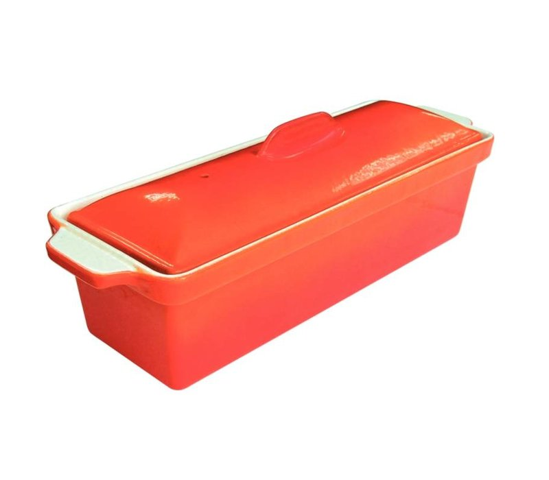 XXLselect Pate Terrine   Orange   1.75 Liter   Stainless Steel Pan   Nonstick Low   340x105x (H) 110mm