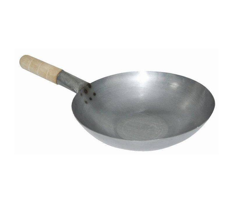 XXLselect Wok - Mild steel - flat bottom - (Ø) 25,5cm