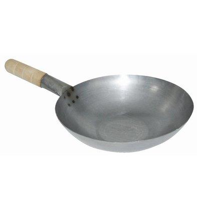 XXLselect Wok - Mild steel - Flat Bottom - (Ø) 33cm