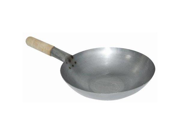 XXLselect Wok - Zacht staal - Rondebodem - (Ø)35,5cm