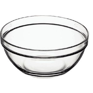 XXLselect Glass Bowl - Tempered Glass - Price per 6 Pieces - 0.35Liter - Ø60mm