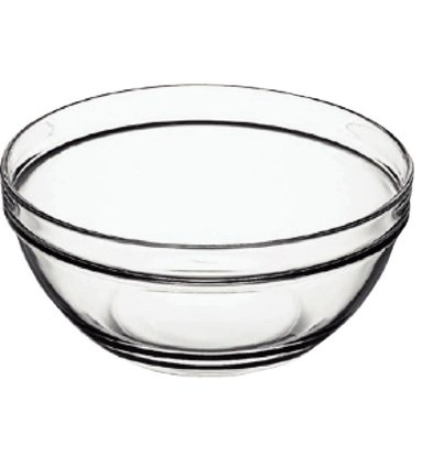 XXLselect Glass Bowl - Tempered glass - Price per 6 Pieces - 126ml - Ø9cm