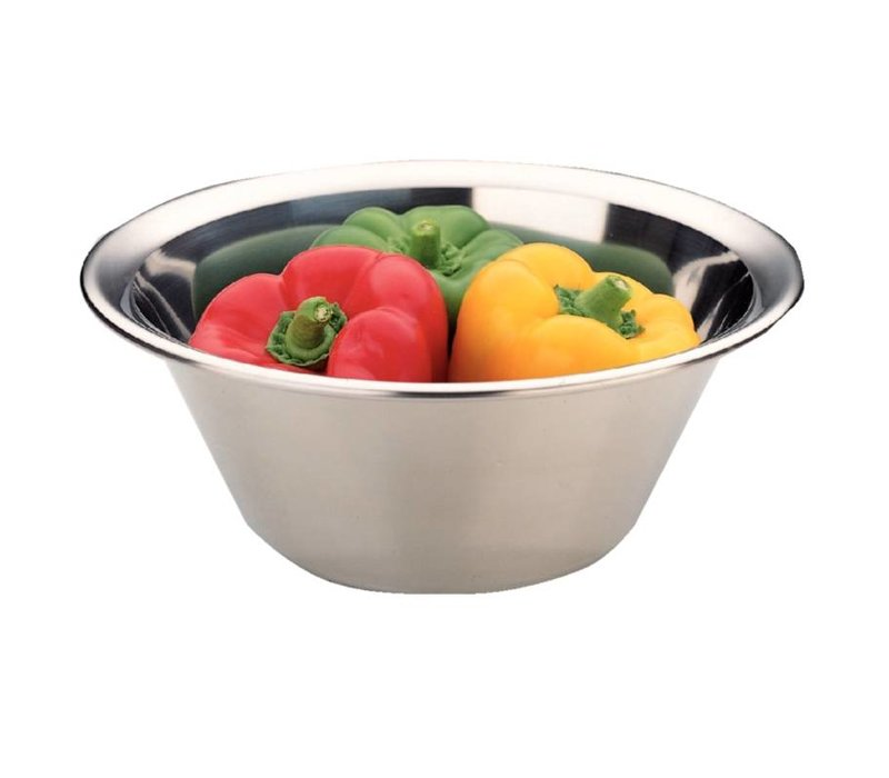 XXLselect Stainless steel mixing bowl - 7 Liter - Ø370mm