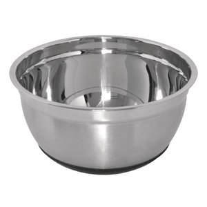 XXLselect Stainless steel mixing bowl - with Silicone Soil - 3 Liter - Ø219mm