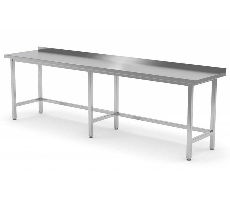 XXLselect RVS Werktafel + Spatrand | Zonder Schap | HEAVY DUTY | 400(b)x600(d)mm | KEUZE UIT 16 BREEDTES