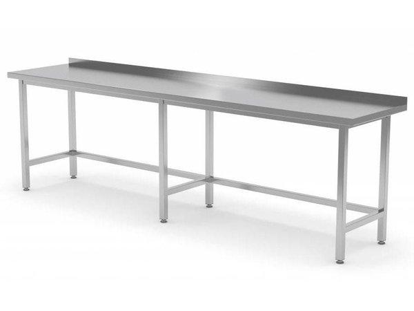 XXLselect RVS Werktafel + Spatrand | Zonder Schap | HEAVY DUTY | 400(b)x700(d)mm | KEUZE UIT 16 BREEDTES