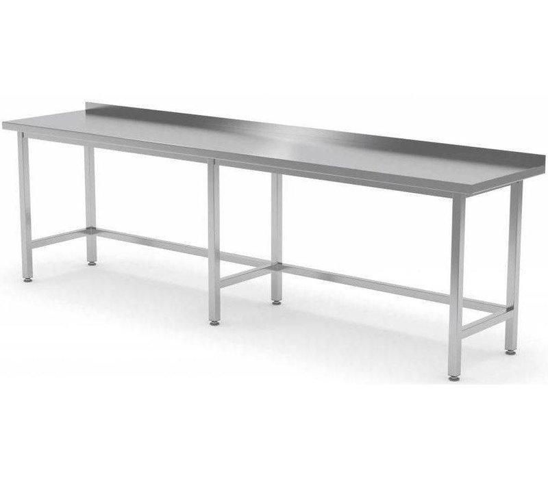 XXLselect RVS Werktafel + Spatrand | Zonder Schap | HEAVY DUTY | 2000(b)x600(d)mm | KEUZE UIT 9 BREEDTES