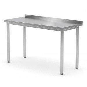XXLselect Edelstahl-Werkbank + Splash-Rand | Ohne Bodenfach | 400 (b) x600 (d) mm | Auswahl von 16 WIDTHS