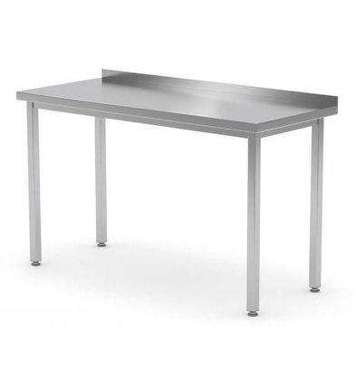 XXLselect RVS Werktafel + Spatrand | Zonder Bodemschap | 400(b)x600(d)mm | KEUZE UIT 16 BREEDTES