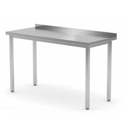 XXLselect Stainless steel workbench + Splash-Rand | Without Bottom Shelf | 400 (b) x600 (d) mm | CHOICE OF 16 WIDTHS