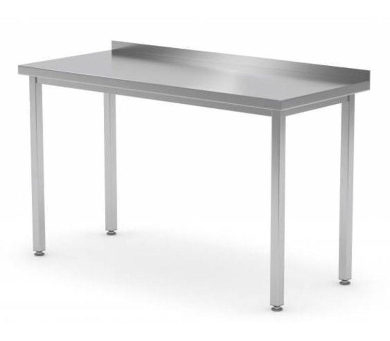 XXLselect Stainless steel workbench + Splash-Rand   Without Bottom Shelf   400 (b) x600 (d) mm   CHOICE OF 16 WIDTHS