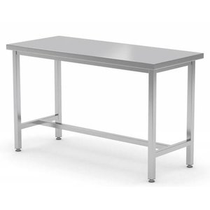 XXLselect Stainless steel workbench without shelf + Skid | HEAVY DUTY | 800 (b) x700 (d) mm | CHOICE OF 12 WIDTHS