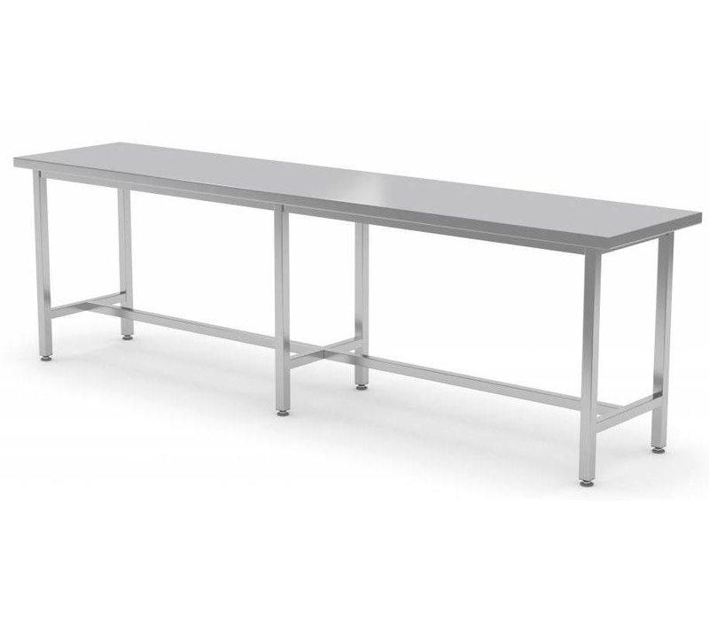 XXLselect RVS Werktafel Zonder Schap + Steunbalk| HEAVY DUTY | 800(b)x700(d)mm | KEUZE UIT 12 BREEDTES