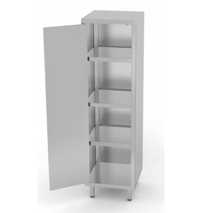 XXLselect Stainless Steel Cabinet Swing door + 1 + 3 Shelves   HEAVY DUTY   400x700x1800 (h) mm   CHOICE OF 3 WIDTHS