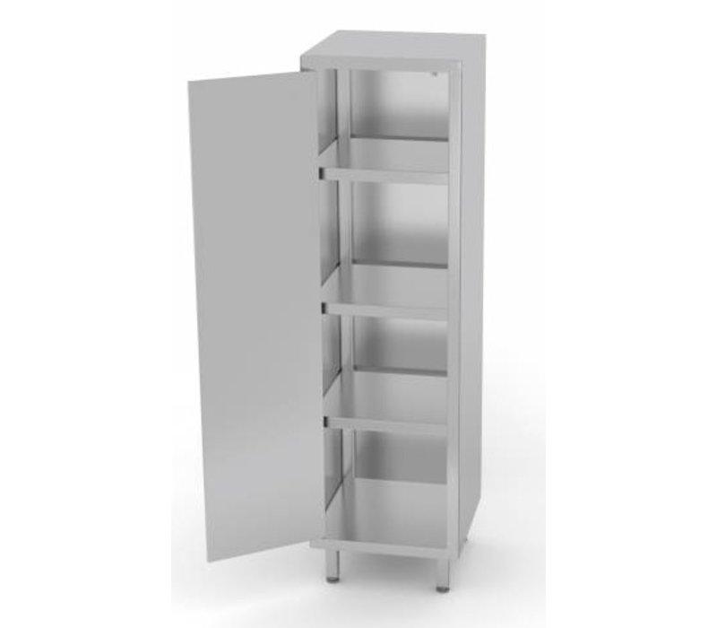 Stainless Steel Cabinet Swing Door 1 3 Shelves Heavy Duty 400x700x1800 H Mm Choice Of Widths