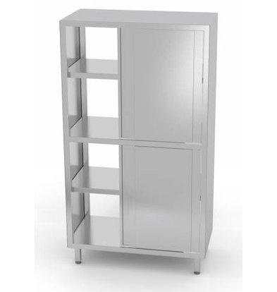 XXLselect Porcelain Cabinet Sided + 8 + 3 Sliding Shelves   800x700x2000 (h) mm   CHOICE OF 5 WIDTHS