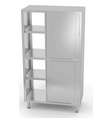 XXLselect Crockery Cupboard SS + 2 Doors + 3 Shelves   HEAVY DUTY   800x700x2000 (h) mm   CHOICE OF 5 WIDTHS