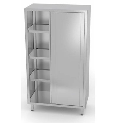 XXLselect Crockery Cupboard SS + 2 Doors + 3 Shelves   HEAVY DUTY   800x700x1800 (h) mm   CHOICE OF 5 WIDTHS