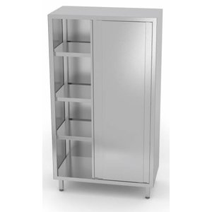 XXLselect Crockery Cupboard SS + 2 Doors + 3 Shelves | HEAVY DUTY | 800x500x1800 (h) mm | CHOICE OF 5 WIDTHS