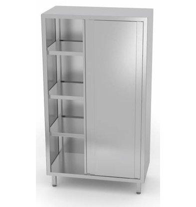 XXLselect Crockery Cupboard SS + 2 Doors + 3 Shelves   HEAVY DUTY   800x500x1800 (h) mm   CHOICE OF 5 WIDTHS