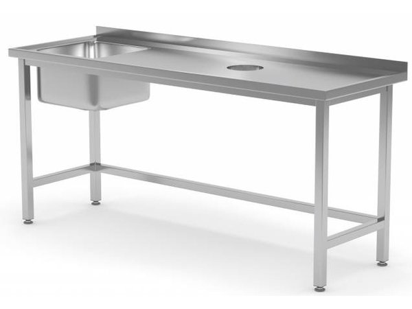 XXLselect Sink Sink + (left) 500x400x250 (h) + Hole Processing / Waste + 800 (b) x700 (d) mm   CHOICE OF 12 WIDTHS