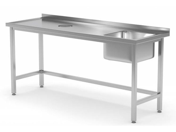 XXLselect Sink Sink + (right) 400x400x250 (h) + Hole Processing / Waste + 800 (b) x600 (d) mm | CHOICE OF 12 WIDTHS